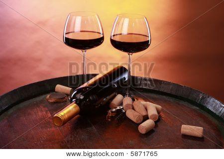 Corking barrel wine