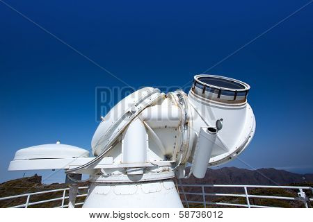 LA PALMA, CANARY ISLANDS, SPAIN - JULY 13, 2012: SST Swedish Solar Telescope at ORM observatory by IAC institute at Roque de los Muchachos in La Palma, Canary, Spain, July 2012.