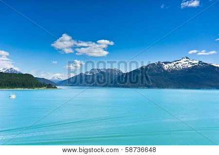 Beautiful View Of Haines City Near Glacier Bay, Alaska, Usa