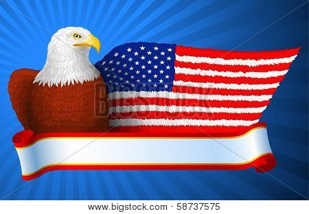 American Eagle Flag Wing