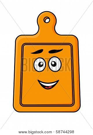 Smiling wooden kitchen chopping board