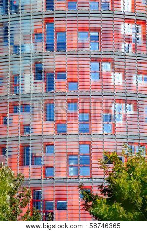 BARCELONA, SPAIN - FEBRUARY 22, 2012: Torre Agbar of Jean Nouver architect on Technological District of Barcelona, Spain, february 22, 2012.