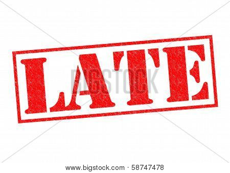 Late Rubber Stamp