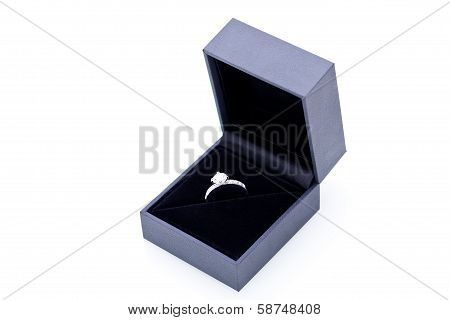 Jewelry Box With Elegant Silver Ring