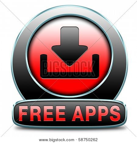 free apps gratis download of application. Icon label or badge for promotion.