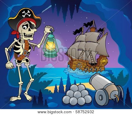 Pirate cove theme image 6 - eps10 vector illustration.