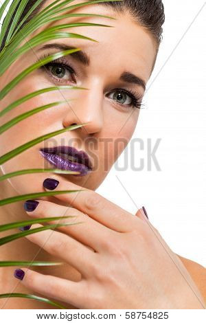 Sensual Beautiful Brunette Woman