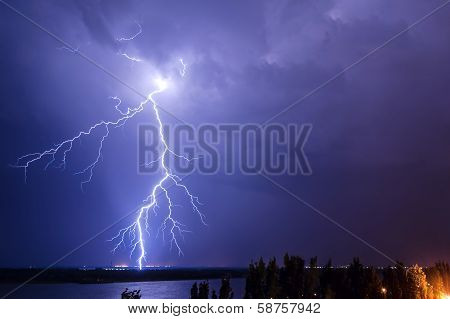 Lightning Over The River 2