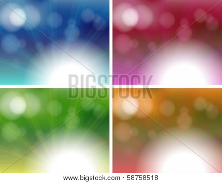 Illustration of the four unique background templates on a white background