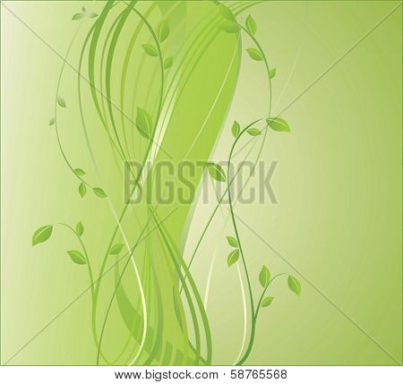 Ecological background with place for you text