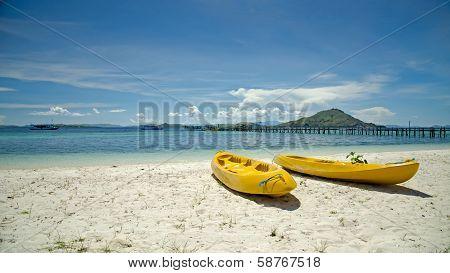 Two Yellow Canoe