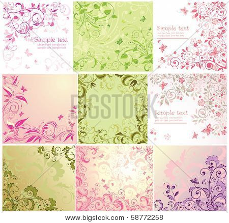 Beautiful floral cards