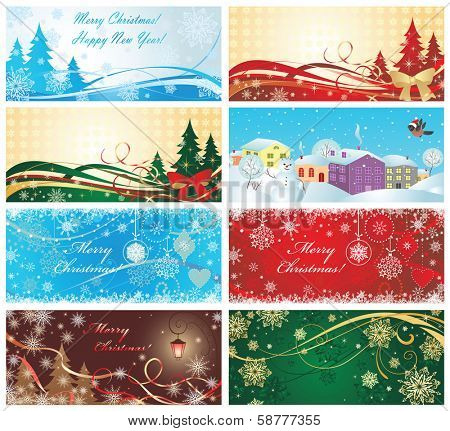 Magic xmas banners