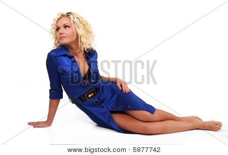 Woman On Blue