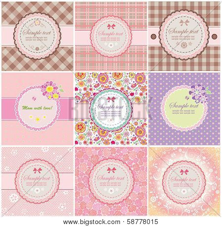 Beautiful greeting labels