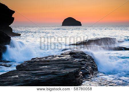 Trebarwith Strand Cornwall England