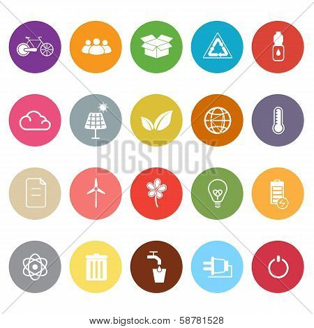 Ecology Flat Icons On White Background
