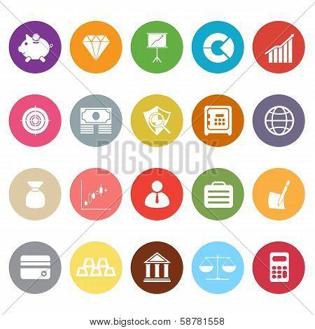 Finance Flat Icons On White Background