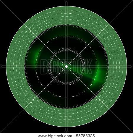 Green Radar Location Locator