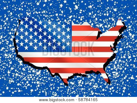 USA flag United States flag background