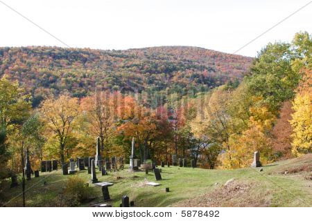 Cemetary on a hill