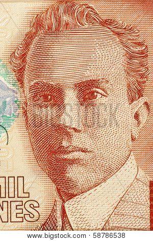 COSTA RICA - CIRCA 2005: Clodomiro Picado Twight (1887-1944) on 2000 Colones 2005 Banknote from Costa Rica. Costa Rican scientist.