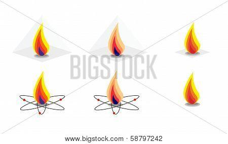 Vector Energy Fire Flames Symbols
