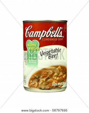 Can Of Campbell's Vegetable Beef Soup