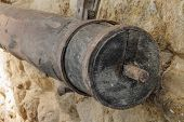 A Shaft From A Press Of An Old Olive Mill In Northern Corsica