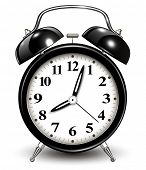 stock photo of analog clock  - Alarm clock - JPG