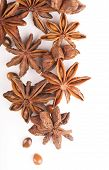 Whole Star Anise isolated on white background