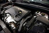 pic of internal combustion  - Detail photo of a clean car engine - JPG