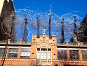 BARCELONA - FEB 23, 2012: Antoni Tapies foundation in Aragon street from 1984 of Domenech i Montaner