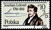 POLAND - CIRCA 1986: A stamp printed by Poland shows Joachim Lelewel (1786-1861) - Polish historian,