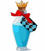 foto of alice wonderland  - Bottle from Alice in Wonderland with a tag that reads  - JPG