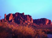 picture of superstition mountains  - desert superstitions mountain range - JPG