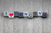 stock photo of jive  - I Love Dancing - JPG