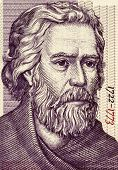 BULGARIA - CIRCA 2005: Paisius of Hilendar (1722-1773) on 2 Leva 2005 Banknote from Bulgaria. Bulgar