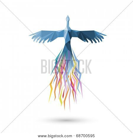 Phoenix bird, eps10 vector