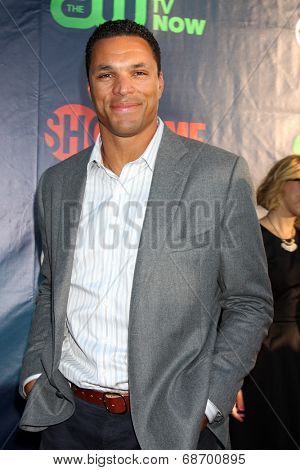 LOS ANGELES - JUL 17:  Tony Gonzalez at the CBS TCA July 2014 Party at the Pacific Design Center on July 17, 2014 in West Hollywood, CA