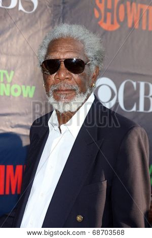 LOS ANGELES - JUL 17:  Morgan Freeman at the CBS TCA July 2014 Party at the Pacific Design Center on July 17, 2014 in West Hollywood, CA