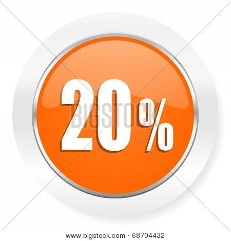 20 percent orange computer icon