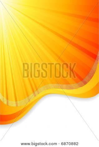 Vector Orange Background.