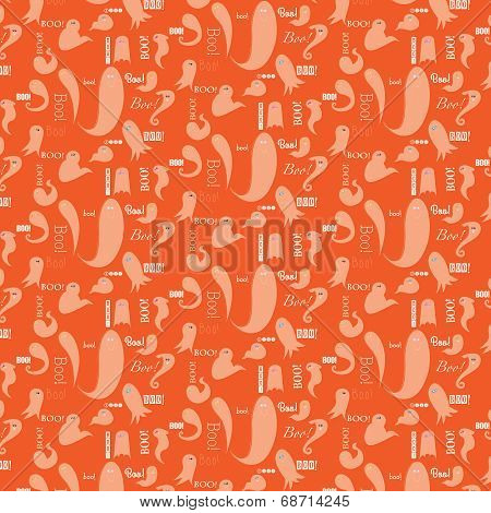 Boo Halloween Background Pattern