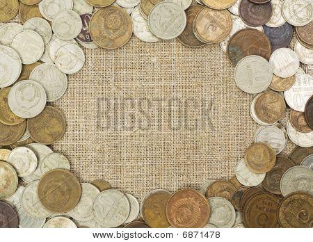 Grunge USSR coins frame