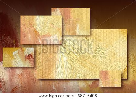 Graphic abstract background with gold rectangles