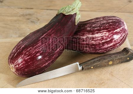 Aubergines Or Eggplants