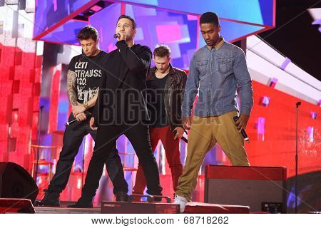 British band Blue perform at Slavyansky Bazar festival in Vitebsk
