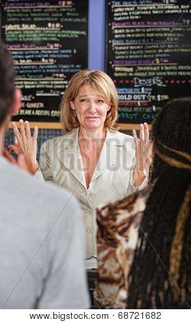 Overwhelmed Cafe Owner