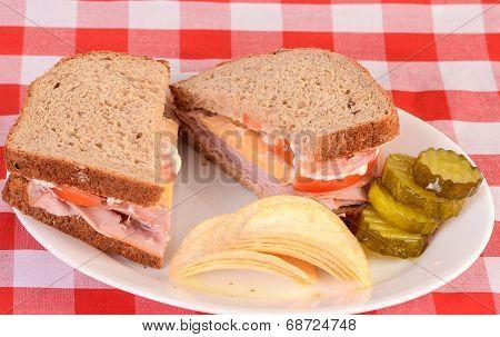 Ham And Cheese On Multi Grain Bread